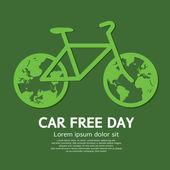 Photo Car Free Day Vector Illustration
