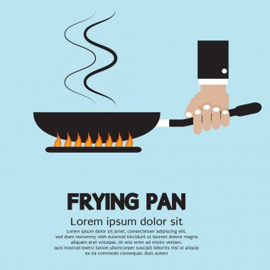 Cooking With Frying Pan Vector Illustration