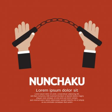 Hand Holding A Nunchaku