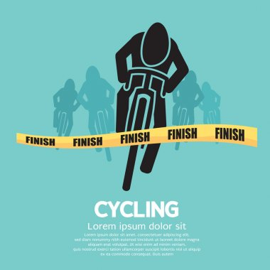 Cyclist At Finish Line