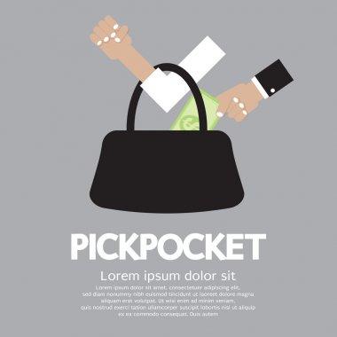 Pickpocket Vector Illustration