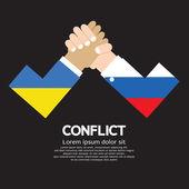Fotografie Ukraine Vs Russland Armdrücken
