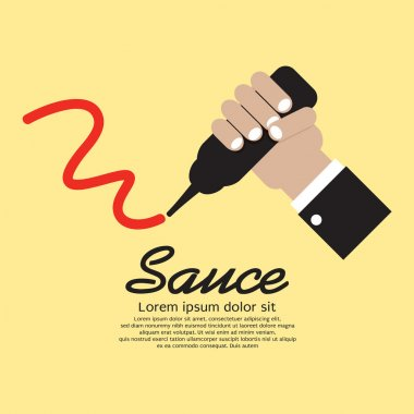 Hand Squeezing A Sauce Bottle