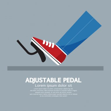 Adjustable Pedal Vector Illustration