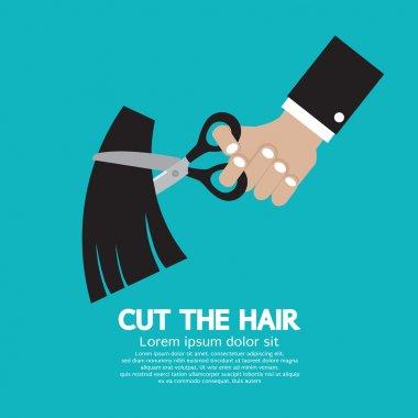 Cut The Hair Vector Illustration