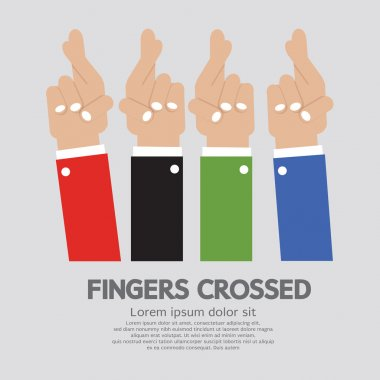Fingers Crossed Vector Illustration clip art vector