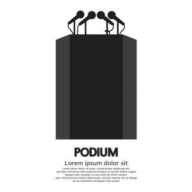 Podium Vector Illustration