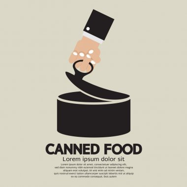 Canned Food Vector Illustration