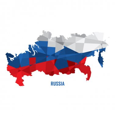 Map of Russia Vector Illustration