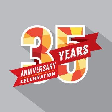 35th Years Anniversary Celebration Design