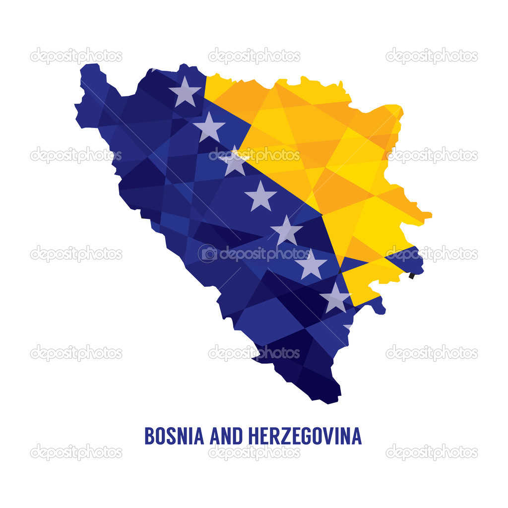 Karta Over Bosnien Hercegovina.Karta Over Bosnien Hercegovina Vektor Illustration Stock Vektor
