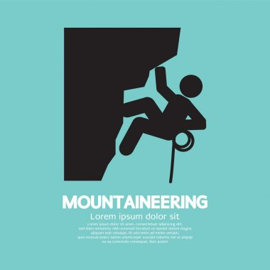 Mountaineering Graphic Symbol Vector Illustration