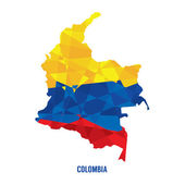 Photo Map of Colombia Vector Illustration