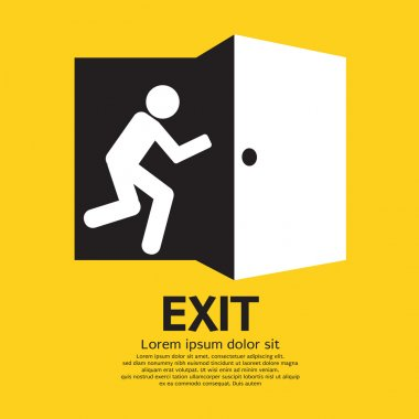 Exit Graphic Sign Vector Illustration