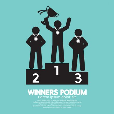 Winners Podium Symbol Vector Illustration