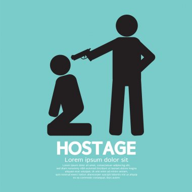 Hostage Graphic Sign Vector Illustration