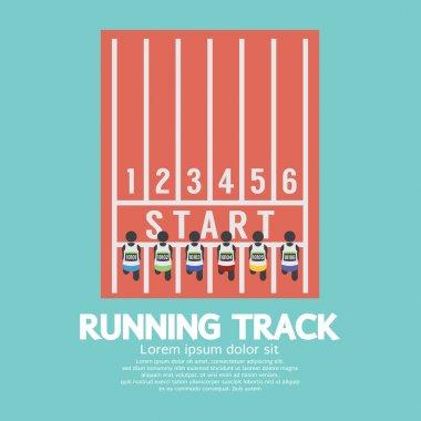Top View Running Track Vector Illustration