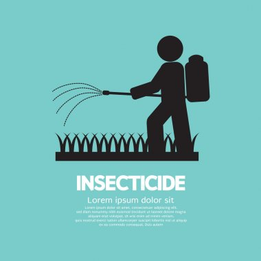 Human Spraying Insecticide Vector Illustration