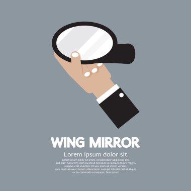 Wing Mirror Car Parts Vector Illustration
