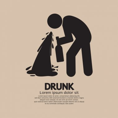 Drunk Person Graphic Symbol Vector Illustration
