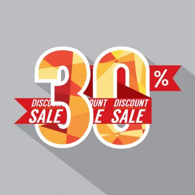 Discount 30 Percent Off Vector Illustration