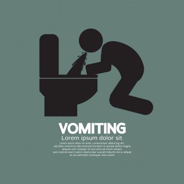 Vomiting Person Graphic Symbol Vector Illustration