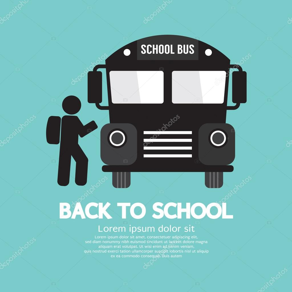 Back To School Graphic Symbol Vector Illustration