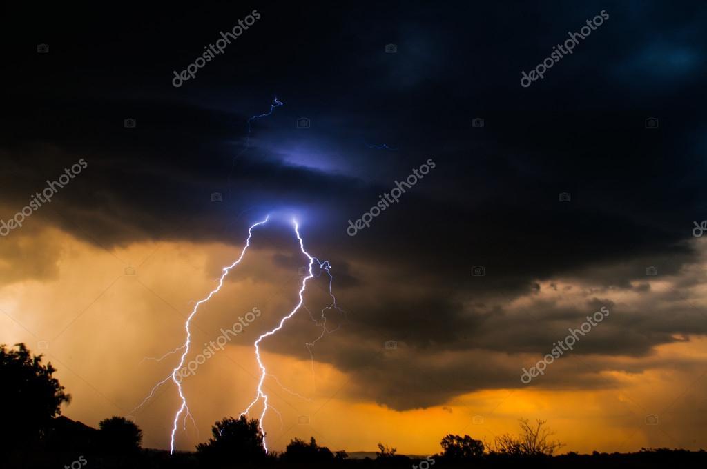 Electric Sunset Lightning