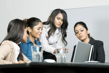 Indian Women colleagues working together