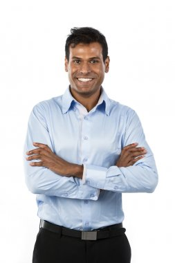 Happy Indian business man