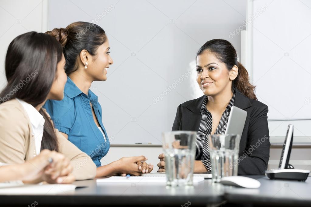 Indian businesswomen having a meeting