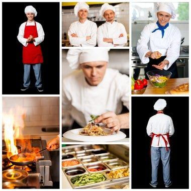 Restaurant chefs collage