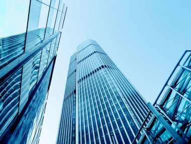 Modern office buildings from low angle view