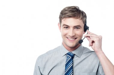 Male customer support executive