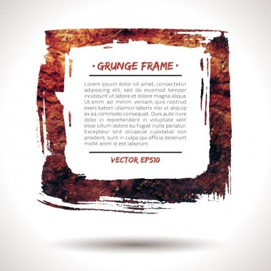 Trendy grunge vector frame