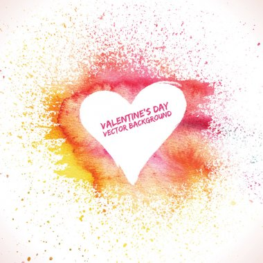 Valentines day background. Grunge background. Watercolor background. Heart background. Valentine poster. Love background clip art vector