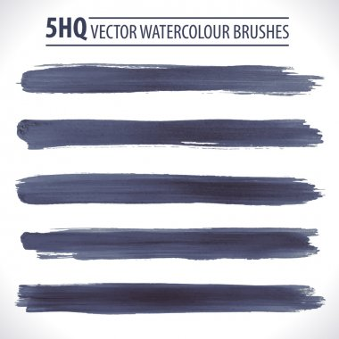 Set of watercolor brushes. Grunge brushes. Design elements. Vector brushes. Hand drawn. Grunge banners. Abstract shape. Retro background. Vintage background clip art vector