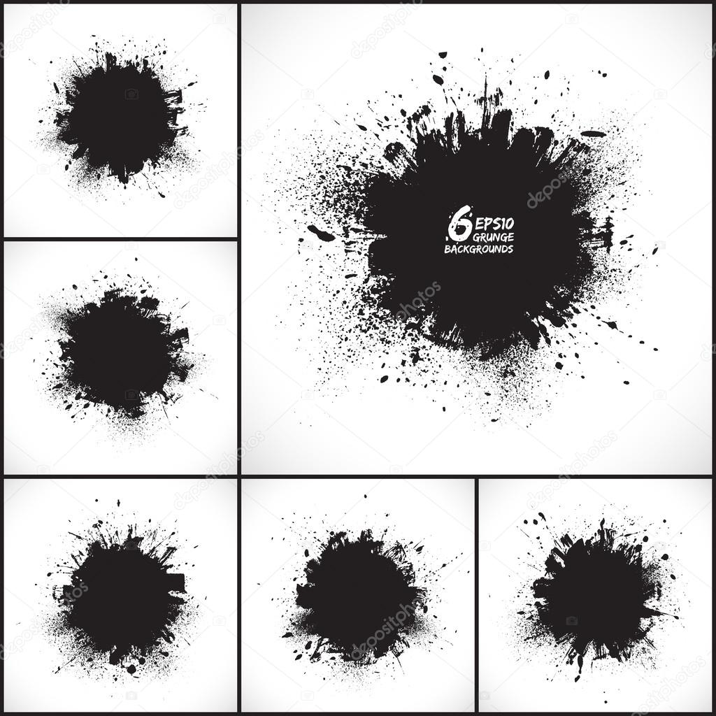 6 vector abstract grunge backgrounds