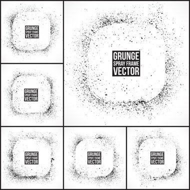 Grunge vector spray frames