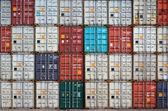 Fotografie Container in einem internationalen port Containerschifffahrt