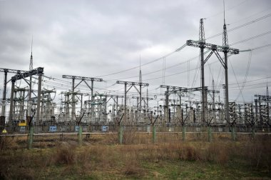 High-voltage wires at the Chernobyl