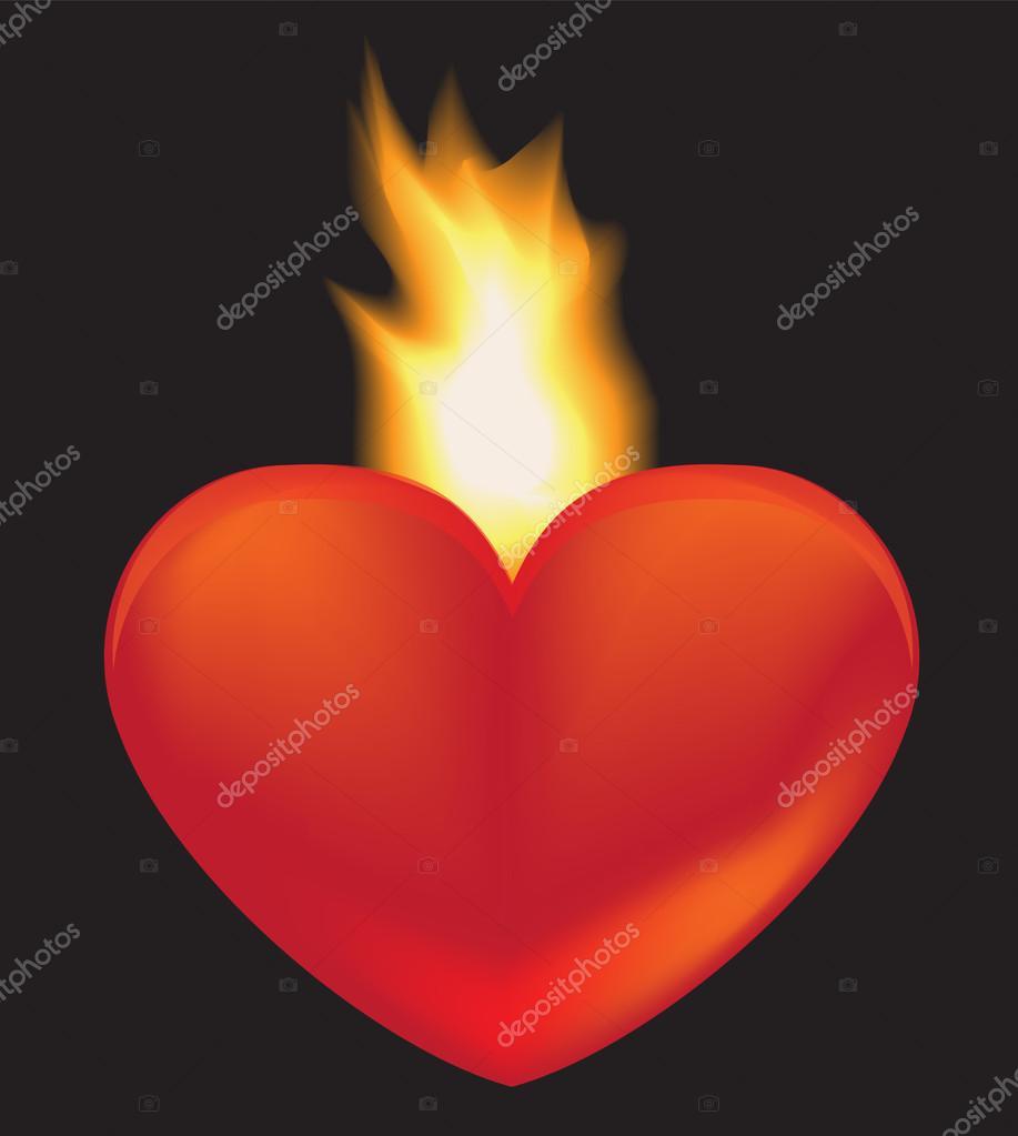 Imágenes Llama Corazón Ardiente Corazon Ardiente Vector De