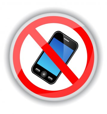 sign banning cell phones