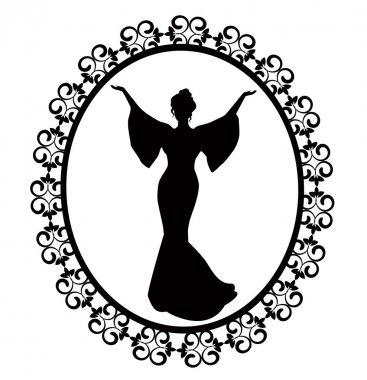 Diva in a carved vintage frame