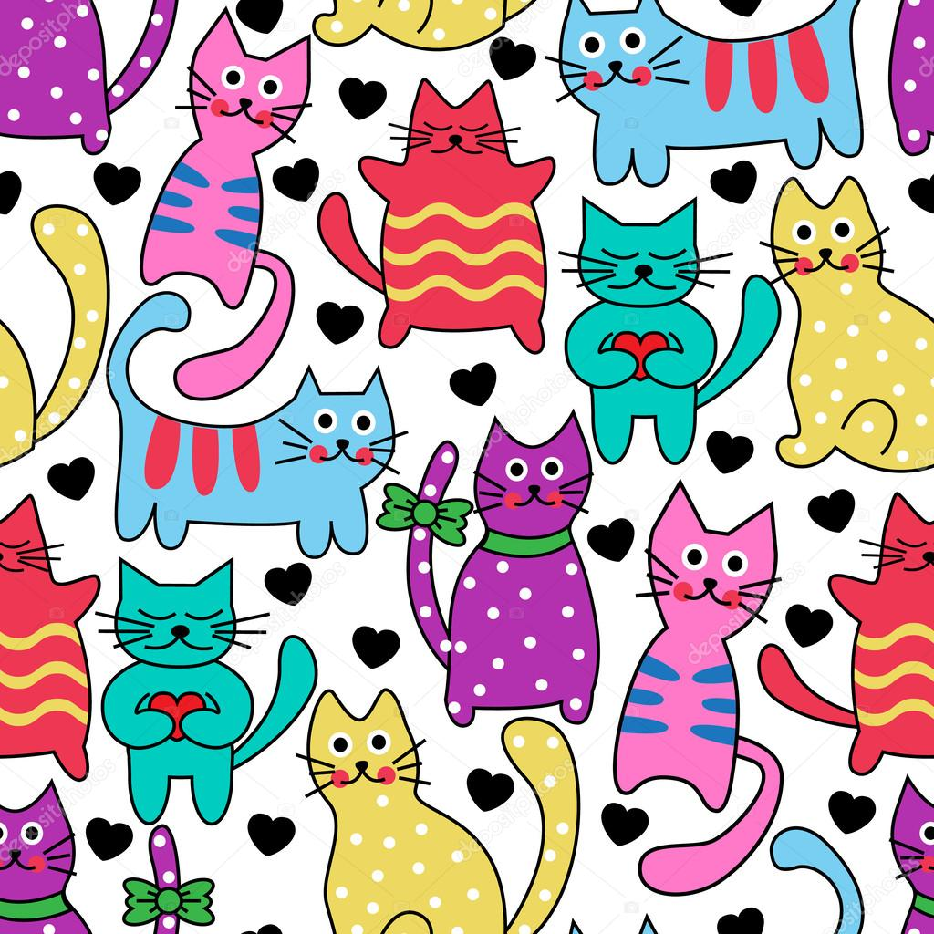 Animado Fondos De Gatos Animados Dibujos Animados De Gatos