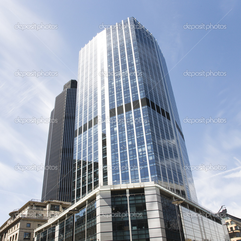 London Skyscraper 99 Bishopsgate Stock Photo