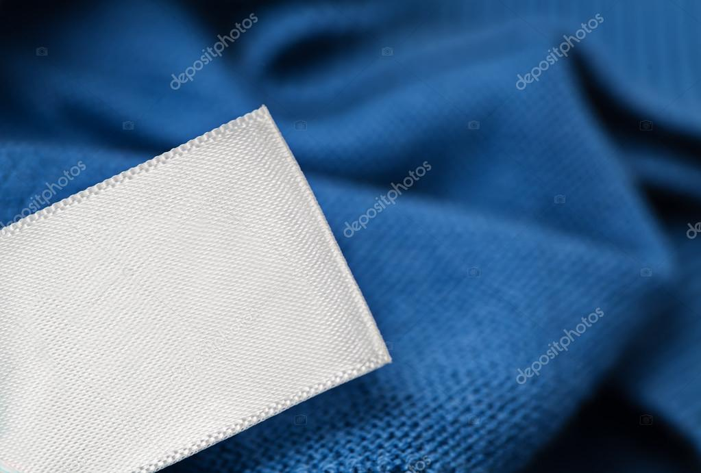 Cloth label laundry care blank mockup