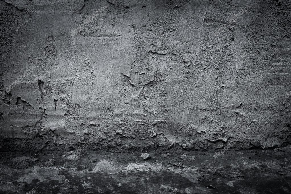 Muro De Concreto Industrial Escuro E Andar Como Plano De