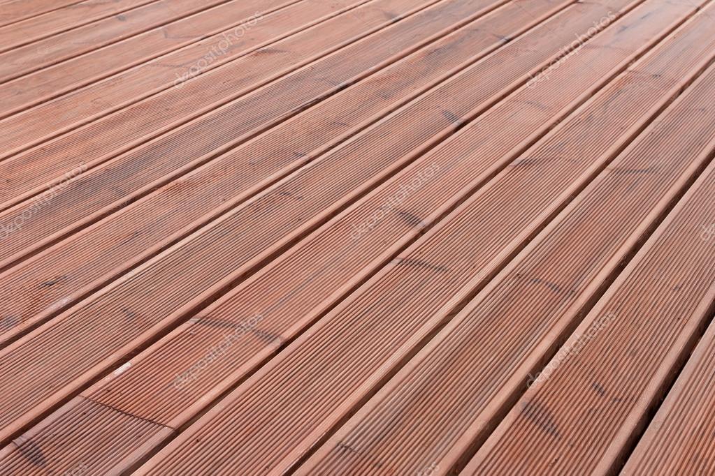 Wet Wood Terrace Floor Background U2014 Stock Photo