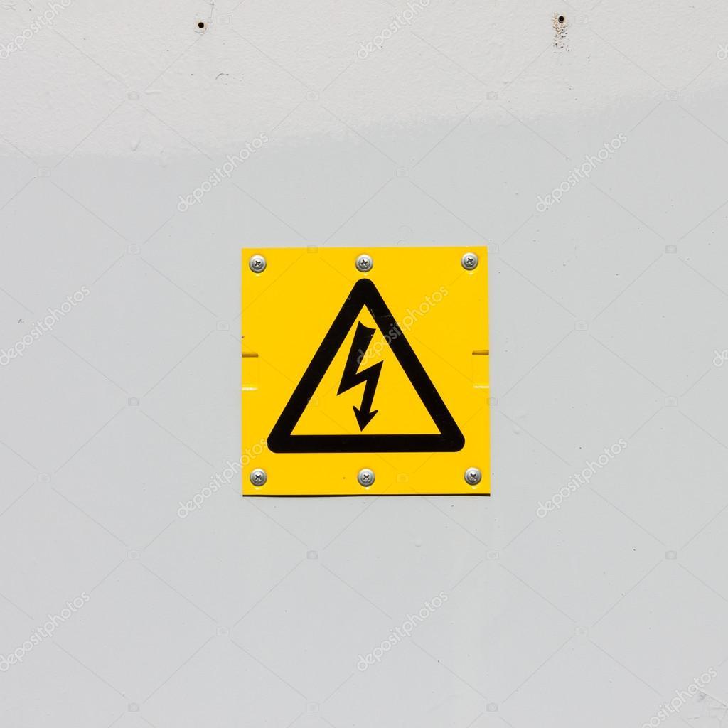 Sign of danger high voltage symbol — Stock Photo © romantsubin #36599197